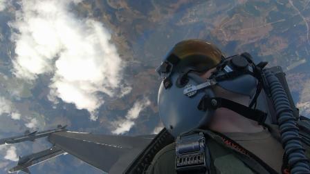 美驻德斯潘达赫姆空军基地第52战斗机联队与德国空军进行空战演练