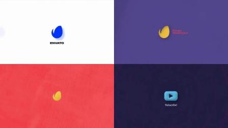 AE模板+PR预设 1400个文字标题App排版竖版MG指示线背景Logo动画