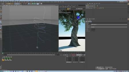 C4D制作神秘的树