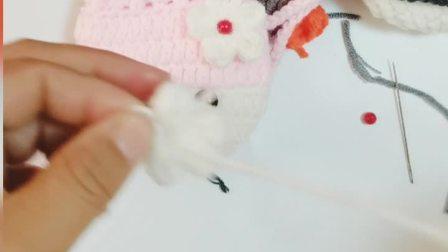 123手作-第71集小女孩蛋袋编织视频教程