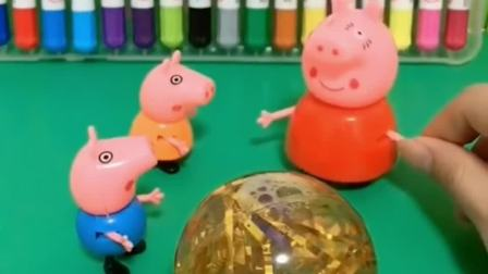 佩奇乔治玩溜溜球,巨人僵尸却来做坏事,小朋友们快帮助佩奇乔治吧!