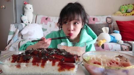 【mini宅家外卖】超大条日式照烧鳗鱼扣饭&软糯拉丝的洪湖藕汤