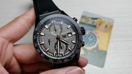 泰格豪雅探月限量版 豪雅卡莱拉计时手表