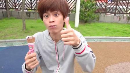 萌娃小可爱:正太又来买冰淇淋了,真美味啊,亲子益智玩具儿童乐园