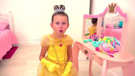 萌娃小可爱穿上漂亮的公主裙去参加选美比赛,最终铩羽而归!—萌娃:宝宝不漂亮吗?
