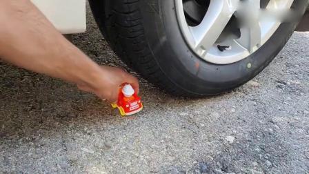 趣味实验:牛人使用小车子碾压小黄车玩具,请勿模仿