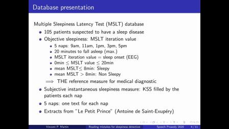 Using reading mistakes as features for sleepiness detection in speech