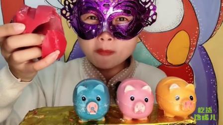 """吃货馋嘴儿:姐姐吃创意""""萌猪巧克力"""",嘟肥4色超可爱,是我向往的生活"""