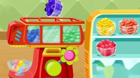 妙妙开甜品店,制作哈根达斯冰淇淋~宝宝巴士游戏