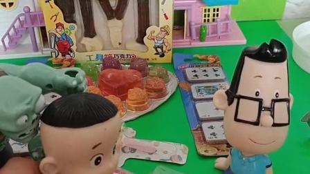 小鬼最喜欢吃棒棒糖啦,酸酸甜甜真可口!僵尸爸爸可不希望他的牙齿出问题!.mp4