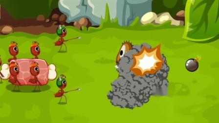 不好!蚂蚁军团遇上可恶的害虫?宝宝巴士游戏