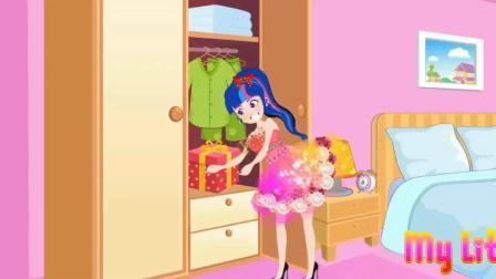 不是吧!艾达琪怎么把裙子剪坏了?小马国女孩游戏
