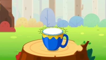 宝宝森林美食 制作美味的椰子布丁 宝宝巴士游戏