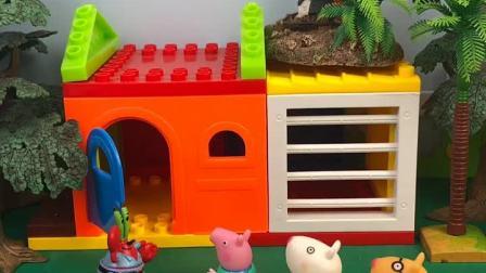 乔治想买汉堡,在等海绵宝宝来上班,没想到海绵宝宝被怪兽抓走了,好尴尬