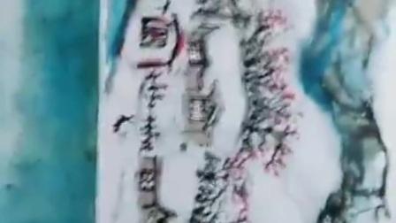 冰雪画家管敬革一阿拉伯舞蹈【江改银报道】
