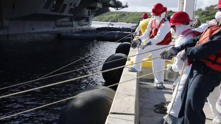 美海军西奥多·罗斯福号航母(CVN 71)完成航母资格认证返回关岛