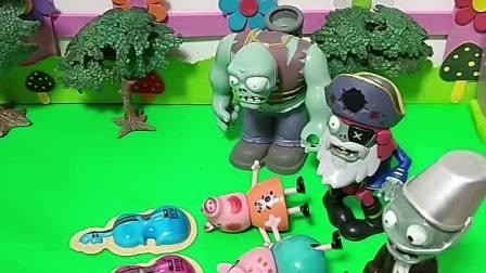 僵尸抓了猪爸爸猪妈妈和佩奇,光头强来帮小猪佩奇一家了!