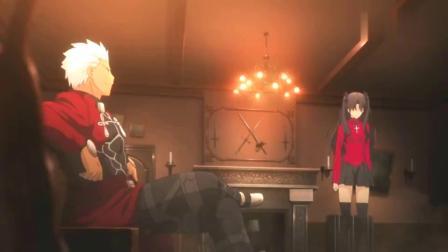 Fate:远坂凛对Archer很不满,远坂凛很生气,Archer却怂了!.mp4