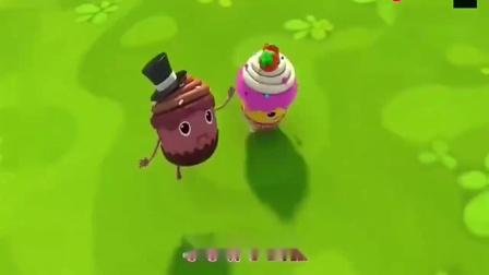 宝宝巴士:小小果味杯子蛋糕开飞机,最终回到餐盘