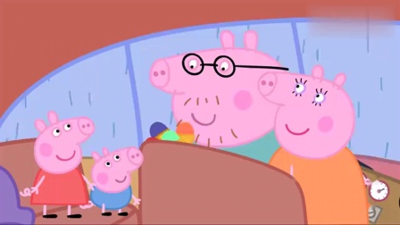 粉红猪小妹:猪爸爸很贴心,买了佩奇最喜欢的草莓冰淇淋!