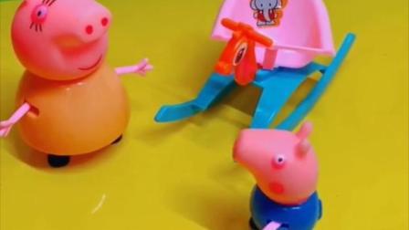 小猪乔治说自己的小车不玩了,可以送给其他小朋友,乔治还说不想要姐姐了!