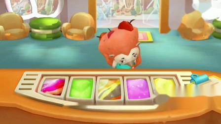 嘎叽嘎叽,有客人来喽小鸭子去接待客人,奇奇来制作冰淇淋?宝宝巴士游戏