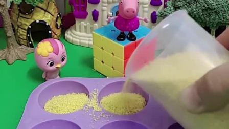 佩奇邀请小朋友来玩沙子,朵朵和苏西来玩了,乔治也想要一起来玩!