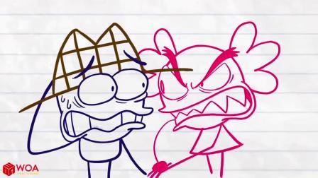 小美的蛋糕被吃了,她求助阿呆帮她找出偷吃蛋糕的人!铅笔画小人游戏