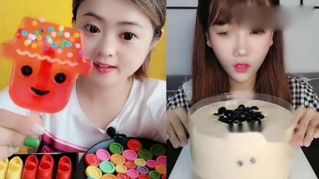 小姐姐直播吃:卡通果冻冰淇淋、珍珠爆浆蛋糕,是我向往的生活