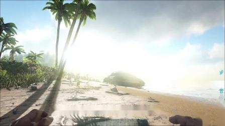 方舟.生存进化01:在荒岛重生,我却遭到神秘生物的攻击游戏解说