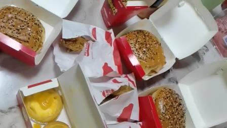 美味大餐 汉堡 鸡米花 烤翅 脆皮鸡腿 蛋挞麦克思汉堡卡友日