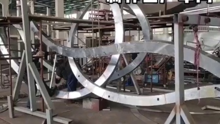 【江苏天筑】不锈钢雕塑厂家大型园林景观城市小品雕塑厂区全景.mp4