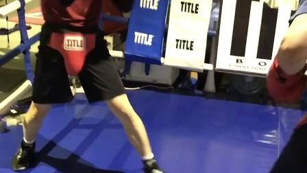 拳击条件对练实战MARK BOXING北京拳击刘教练2020.21黄涛37岁🆚郭天涌32岁