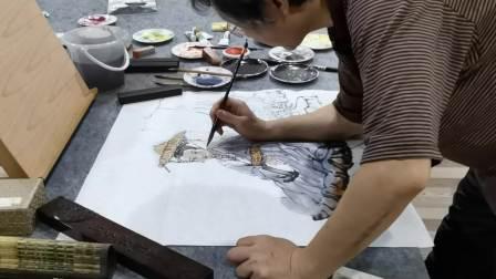 刘钢画家(红豆生南国美女图)肖剑益拍摄67