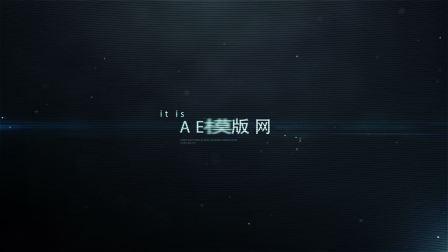 560信号科技感毛刺撕裂怀电视效果文字标题特效动画制作AE模板