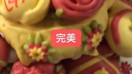 祝寿寿桃,中式蛋糕,果蔬汁制作,好吃不甜,老少皆宜,营养健康😎,礼盒寿桃,寿桃馒头可定制