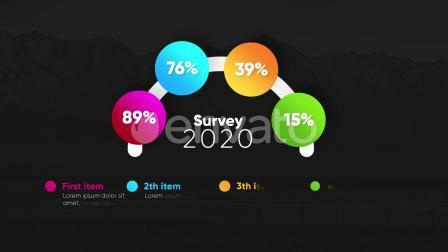 FCPX插件-5种公司企业商务信息数据图表展示动画 Infographic Modern Graphs
