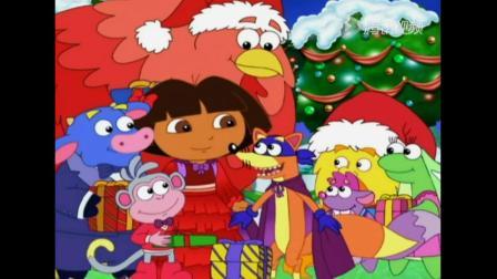 《爱冒险的朵拉第八季》捣蛋鬼狐狸找到了圣诞精神,分享礼物