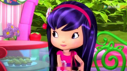 《草莓甜心》草莓甜心欢迎樱桃吉吉在这度假,大家很欢迎她