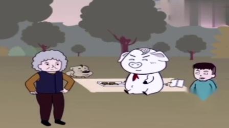 熊孩子抢猪屁登蛋挞,它这样做看着真是解气!.mp4