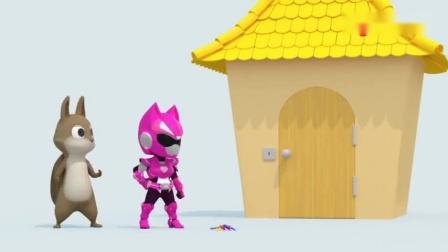 迷你特工队:露西带着松鼠妈妈解救出了小松鼠