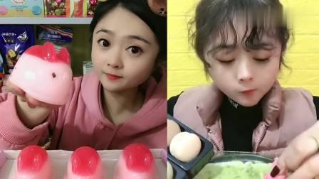 可爱小姐姐试吃:小姐姐吃兔子果冻,这么可爱一定好吃
