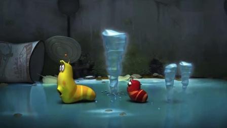 爆笑虫子:上边下起了冰锥,小虫子用舌头走路!.mp4