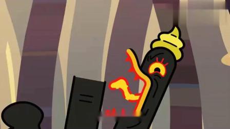 超迷你战士:迷你萌吃完能量布丁,太恐怖了,轻松解决烦恼星人!