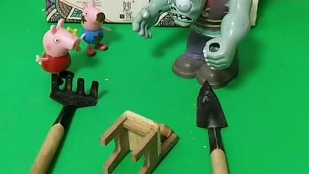 巨人僵尸最近有点痒,让小猪们拍打,觉得有点轻