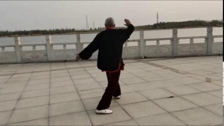42式太极拳,新河县人民公园太极队李彦民晨练