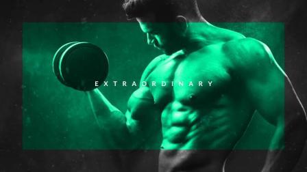 7632-动感体育运动健身文字图片快闪宣传AE模板