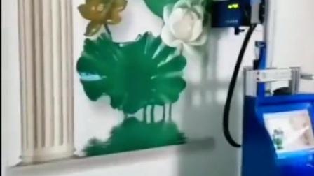 老莫教你墙体彩绘之荷塘月色!