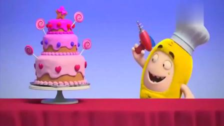 奇宝萌兵:绿宝为了偷吃生日蛋糕,躲到了蛋糕里,太好笑了!
