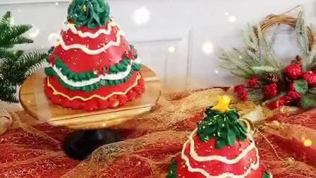 赣州奶油蛋糕培训 简单奶油裱花蛋糕 生日蛋糕花朵制作视频